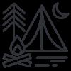 camping icon Sierra South Mountain Sports Kern River California